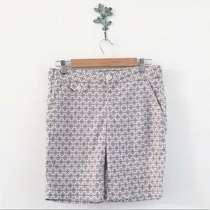 Anthro. Level 99 Diamond Print Bermuda Shorts 28